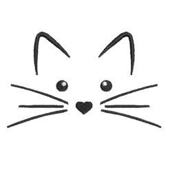 Cat Face Machine Embroidery Design