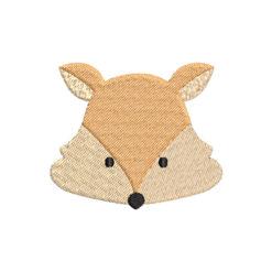 Fox Face Machine Embroidery Design