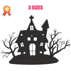 Halloween House Machine Embroidery Design