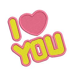 I Love You Machine Embroidery Design