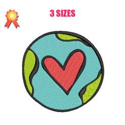 Love Earth Machine Embroidery Design