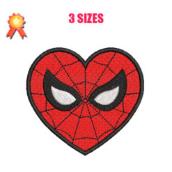 Spiderman Heart Machine Embroidery Design